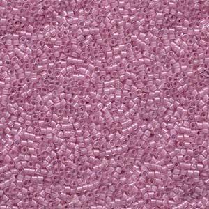 DB072 Miyuki Delica 11o Pale Lilac Lined Seed beads 15gr (SB1367)