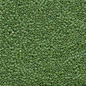 DB163 Miyuki Delica 11o Opaque AB Green Seed beads 15gr (SB931)
