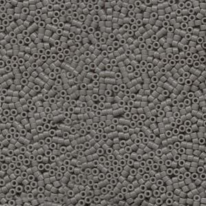 DB731 Miyuki Delica 11o Grey Opaque Seed beads 15gr (SB133)
