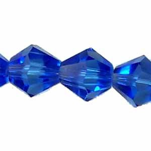 8mm Medium Blue Crystal Beads (GL206)