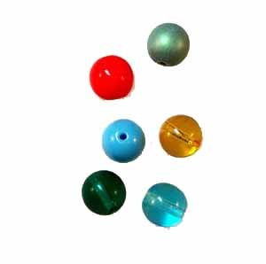 8mm Round Glass Beads - Assorted colors (GL867)