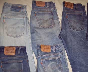 50 LEVI'S JEANS WHOLESALE LOT UK POSTAGE