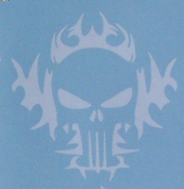 Punisher logo with tribal sticker