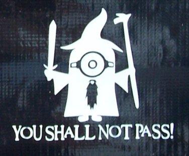 Harry Potter Minion: You shall not pass