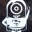 Superman Minion Vinyl Decal