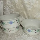 Oneida Ava Dessert Fruit Sauce Bowls Porcelain Set of 3