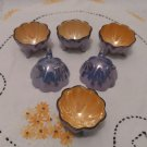 Luster Ware Footed Salt Cellars Porcelain Japan Original Box