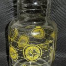 Vintage Pyrex Carafe with Lemons No. 7520 Two Quart Size