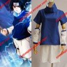 Amime Naruto Cosplay Costume- Naruto Uchiha Sasuke 1st Blue Summer Wear Cosplay Costume