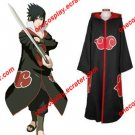 Naruto Akatsuki Cloak Costume with Hat / Hawk Team Sasuke Uchiha Cloak
