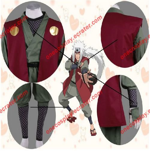 [Custom Made]  Naruto Shippuden Jiraiya Cosplay Costume Halloween Party Cosplay Clothes