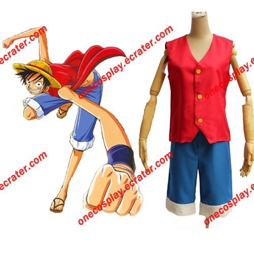 One Piece Cosplay-  Monkey D. Luffy Cosplay Costume (Free Shipping)