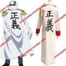 One Piece Navy Marine Justice Cloak Coat Cosplay Costume