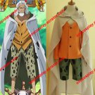 Anime One Piece Silvers Rayleigh Cosplay Costumes (Customized)
