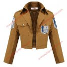 New Shingeki no Kyojin Attack on Titan Cosplay costume Survey Corps Eren Jacket (blue + white sign)