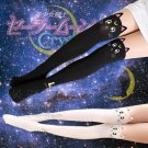 Free Shipping White Sailor Moon Cosplay Cats Luna Crystal Artemis Tight Pantyhose (white)