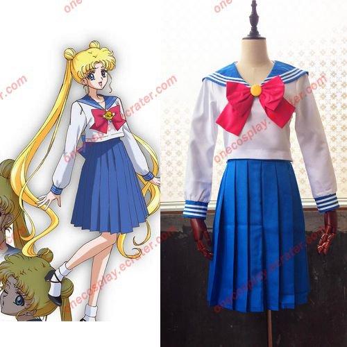 Sailor Moon Cosplay Costume Sailor Suit Tsukino Usagi School Uniform (in stock / customized)