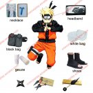 Naruto Cosplay Costume Naruto Shippuden Uzumaki Naruto 2nd Cosplay Costume and Accessories Set