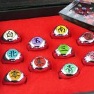 10 Pcs Set Naruto Anime Cosplay Props Akatsuki Member Ring with Retail Pack