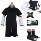 Anime Naruto Uchiha Sasuke 2nd Cosplay Costume and Accessories Set
