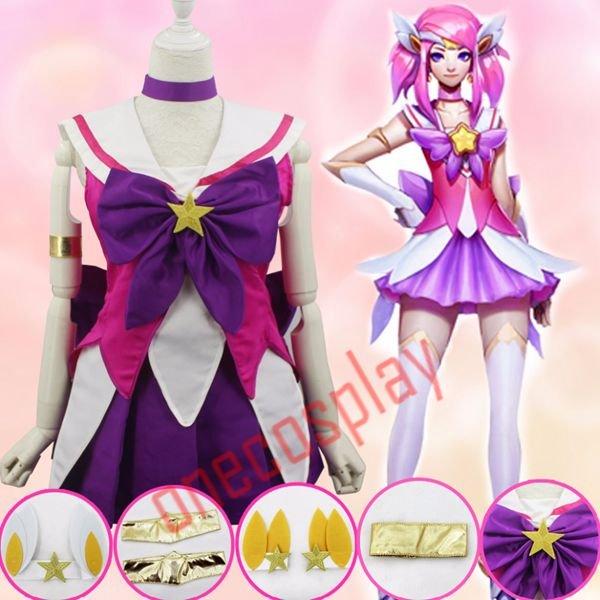 LOL The Lady Of Luminosity Lux Cosplay Costumes Sailor Moon / Puella Magi Madoka Magica Dress