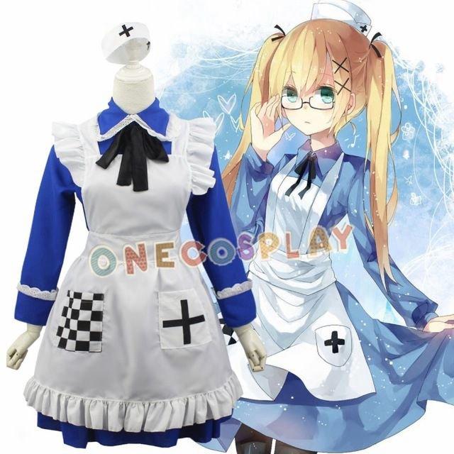 Axis Powers Hetalia UK Rosa Kirkland APH Cosplay Costumes Women Fancy Outfits Lolita Maid Dress