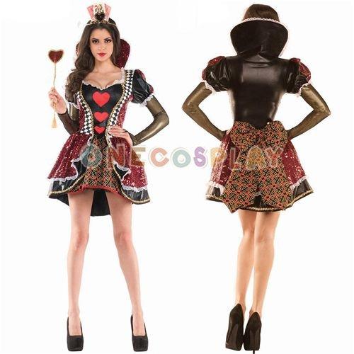 Alice in Wonderland Cosplay Costumes Queen of Heart Dress