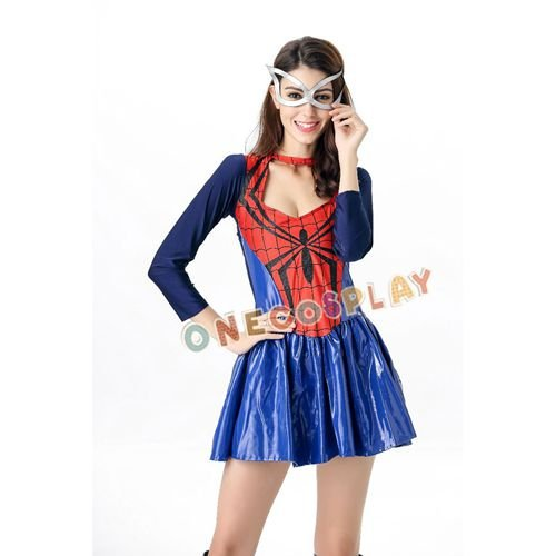 Super Hero Movie Spiderman Cosplay Costumes Woman Sexy Spider-man Fancy Dress for Halloween Party