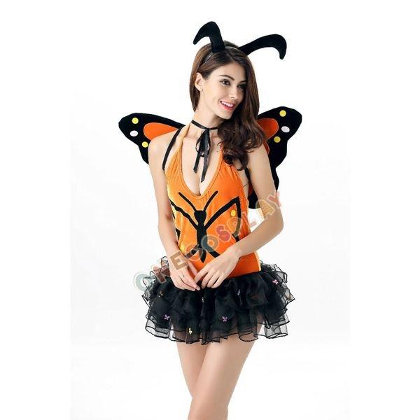 Green Forest Cosplay Costumes Butterfly Women Dress Wizard Fancy Animal Lovely Dress
