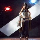 Fashion Gypsy Cosplay costumes Latin Dance Long Dress Greek Queen Fancy Halloween Dress