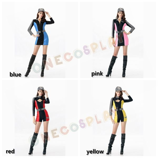 Campus sports Costumes Racing Girl Fancy Complete Uniform Cheerleaders Jumpsuits for Group Play