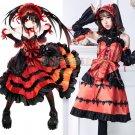 DATE A LIVE Nightmare Cosplay costume Tokisaki Keurumi Anime cosplay fancy dress