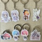 Re:Zero kara Hajimeru Isekai Seikatsu Cosplay Key Chains Pendants Phone Charm Keychains