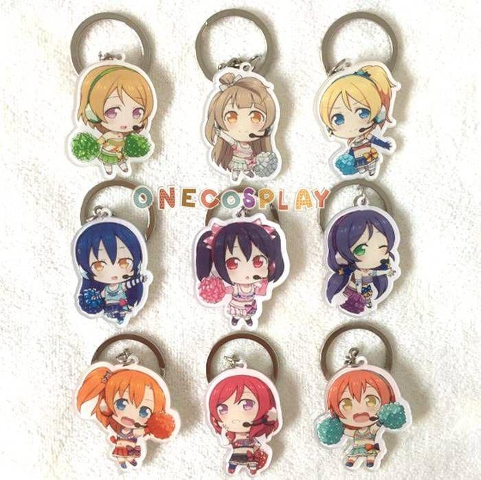 Love Live! Cosplay Props Nico Sonoda Umi Kousaka Honoka Key Chains Minami Kotori Charm Pendants