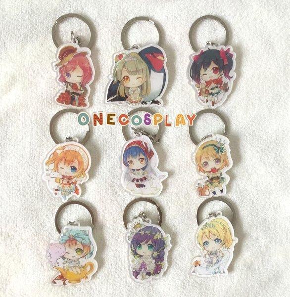 Love Live! Fairy Tale Yazawa Nico Sonoda Umi Kousaka Honoka Key Chains Minami Kotori Charm Pendants