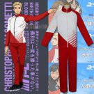 Yuri!!! on Ice Cosplay Clothes Christoph Giacometti Cosplay Costume Sportswear Set