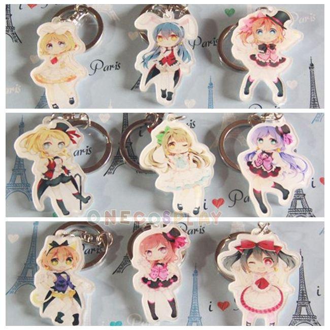 Love Live! Cosplay Accessories French maid Key Chains Minami Kotori Kousaka Honoka Charm Pendants