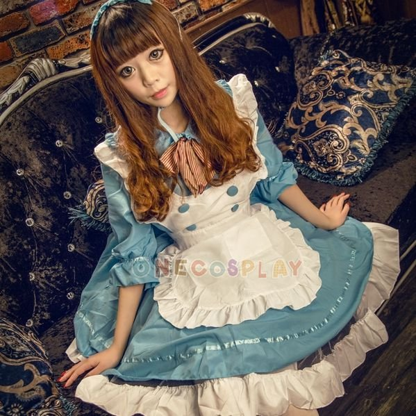 Alice in the wonderland cosplay costumes alice maid costume lolita Maid dress for Fancy Party