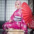 Ainme Naruto Cosplay Costume Haruno Sakura Cosplay Kimono Onsen Yukata