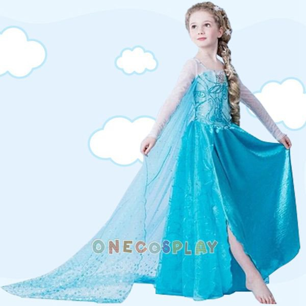Girl Dress Princess Elsa Dress Children Halloween Snow Queen Cosplay Costume Kids Clothes