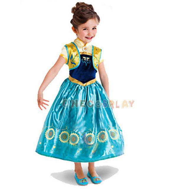 Anna Elsa Cosplay Dress Princess Dresses Children Party Costume Fairy Tales Princess Elsa Dress