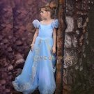 Big Skirt Trailing Princess Dress Snow Queen Cosplay Costume for Kids  Halloween Elsa Dress