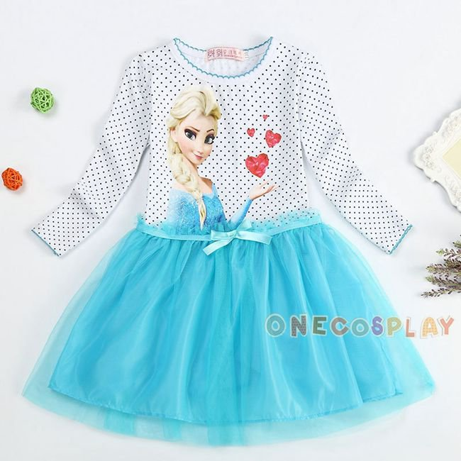 Autumn Princess Elsa Dress Long Sleeve Cartoon Girls Dress Kids Clothes Meninas Vestidos