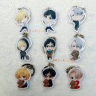 Promotion 9pcs/set YURI!!! on ICE Cosplay Accessories Key Chains Yuri Plisetsky Keychains