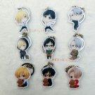 Promotion 9pcs/set YURI!!! on ICE Cosplay Accessories Key Chains Yuri Plisetsky Keychains