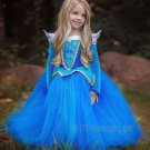 Children's Princess Dress Princess Aurora Dress Sleeping Beauty Cosplay Costume Blue