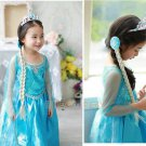 Princess Crown+Magic Wand+ Wig Set Anna Elsa Tiara Girls Hair Brand Tiara Cosplay Crown for Kids