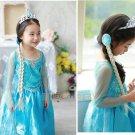 Princess Crown+Magic Wand+ Wig Set Anna Elsa Tiara Girls Hair Brand Tiara Cosplay Crown for Kids