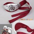 Naruto Leaf Village Jiraiya Fitting Headband headpiece Cosplay Accessory Christmas Party