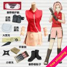 Naruto Cosplay Clothes Haruno Sakura 2nd Cosplay Costume with Accessories Set